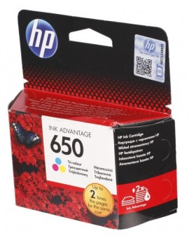 HP 650 Tri-color Original Ink Advantage Cartridge CZ102AE