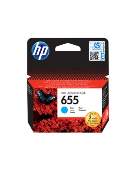 HP 655 Cyan Original Ink Advantage Cartridge CZ110AE